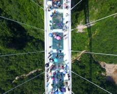 Mais uma ponte de vidro é inaugurada na China
