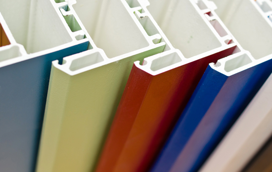 Colorized profile systems for windows and doors manufacturing
