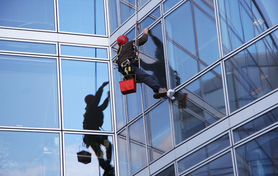 Window cleaner and offices building