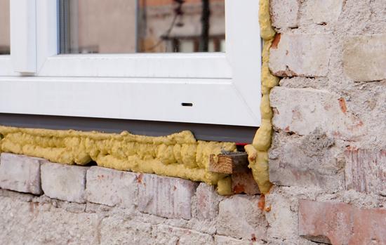Installing plastic window
