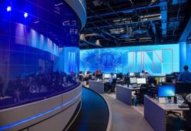 Vidro curvo é destaque no novo estúdio do Jornal Nacional